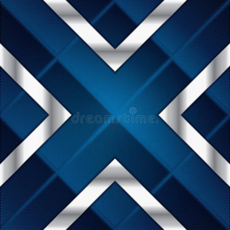 Αφηρημένο υπόβαθρο, μεταλλικό μπλε φυλλάδιο απεικόνιση αποθεμάτων