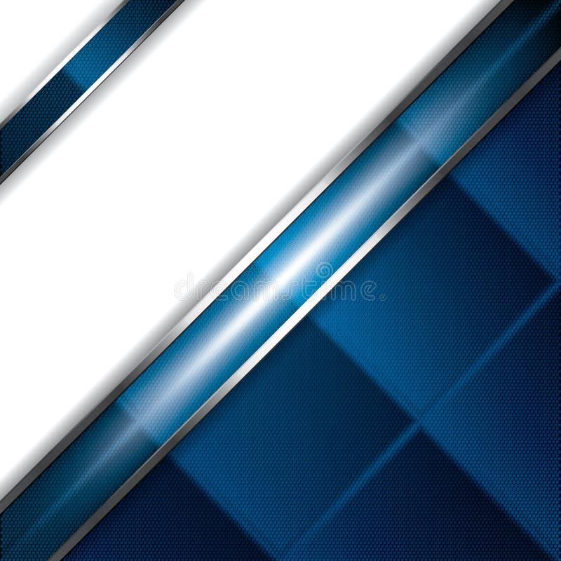 Αφηρημένο υπόβαθρο, μεταλλικό μπλε φυλλάδιο ελεύθερη απεικόνιση δικαιώματος