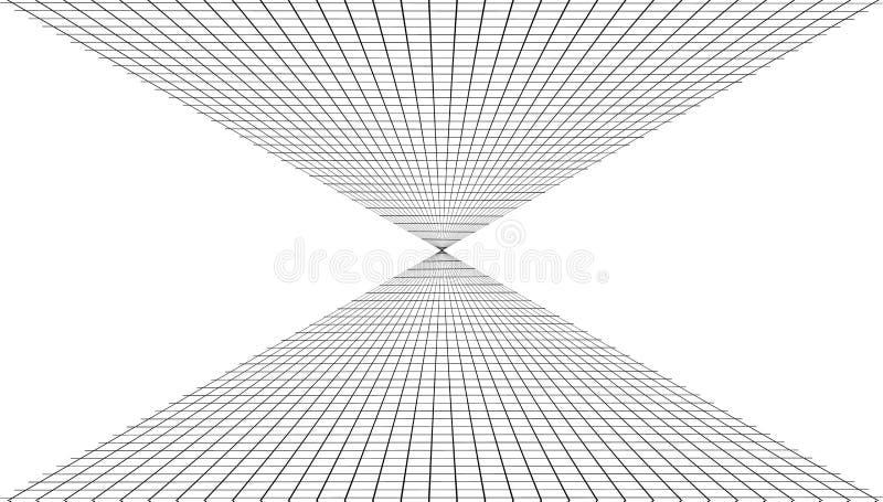 Αφηρημένο υπόβαθρο με ένα πλέγμα προοπτικής διανυσματική απεικόνιση