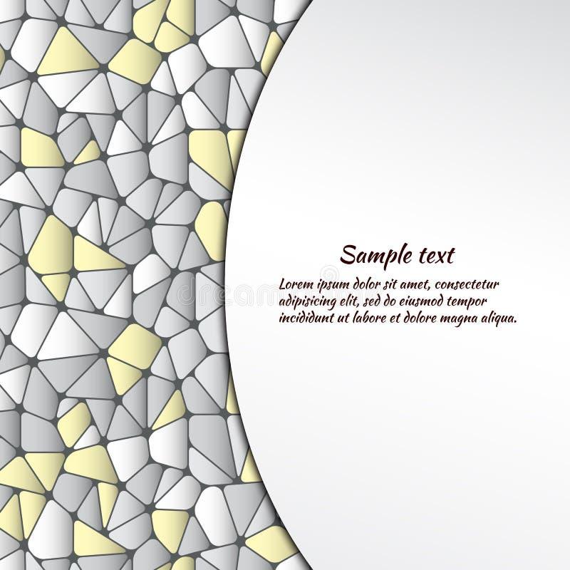 Αφηρημένο υπόβαθρο με τα γεωμετρικά αντικείμενα και διάστημα για το κείμενο ελεύθερη απεικόνιση δικαιώματος