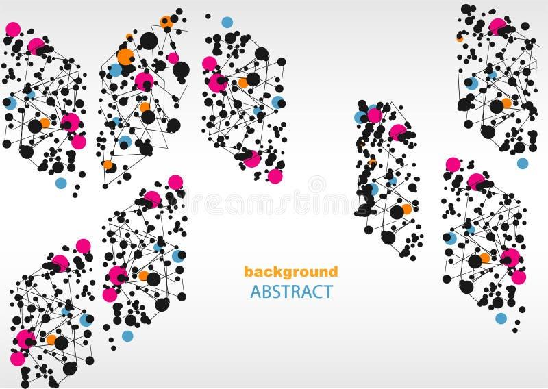 Αφηρημένο υπόβαθρο με τα γεωμετρικά σχέδια, για ιστοσελίδας και το σχέδιο στοκ εικόνες με δικαίωμα ελεύθερης χρήσης