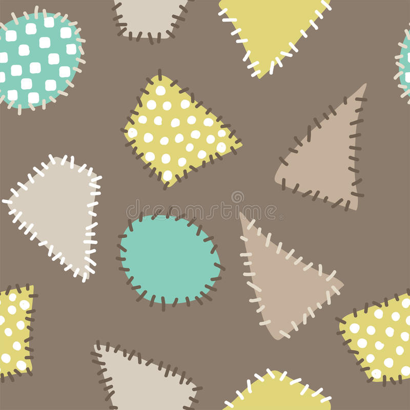 Αφηρημένο υπόβαθρο με τα ζωηρόχρωμα μπαλώματα Άνευ ραφής patte απεικόνιση αποθεμάτων
