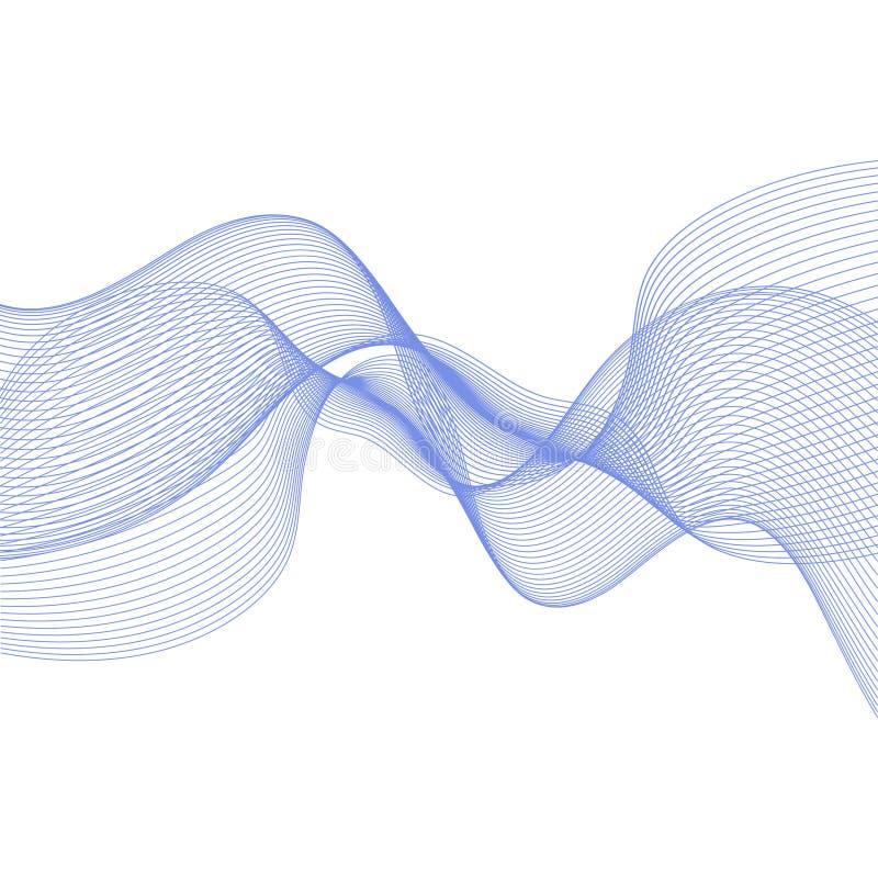 Αφηρημένο υπόβαθρο με τα μπλε κύματα απεικόνιση αποθεμάτων