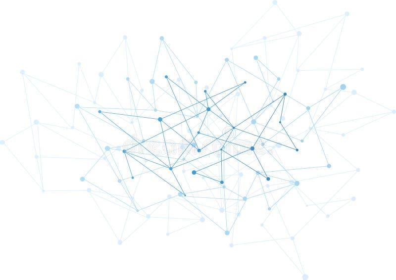 Αφηρημένο υπόβαθρο με τα μπλε σημεία και καθαρός  διανυσματική απεικόνιση
