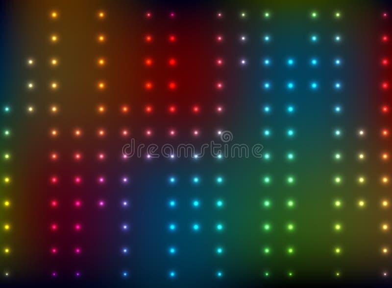Αφηρημένο υπόβαθρο με τα φωτεινά φω'τα χρώματος - διάνυσμα ελεύθερη απεικόνιση δικαιώματος
