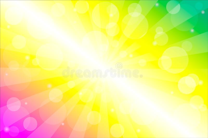 Αφηρημένο υπόβαθρο με την επίδραση φλογών ακτίνων και φακών ήλιων διανυσματική απεικόνιση