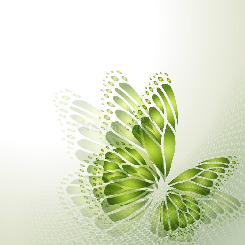 Αφηρημένο υπόβαθρο με την πεταλούδα απεικόνιση αποθεμάτων