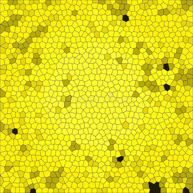 Αφηρημένο υπόβαθρο με τη ζωηρόχρωμη σύσταση Κίτρινο κυψελωτό τετραγωνικό κεραμίδι διανυσματική απεικόνιση
