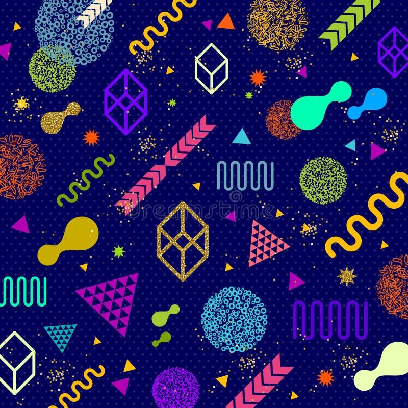 Αφηρημένο υπόβαθρο με τις πολύχρωμες γεωμετρικές μορφές ελεύθερη απεικόνιση δικαιώματος