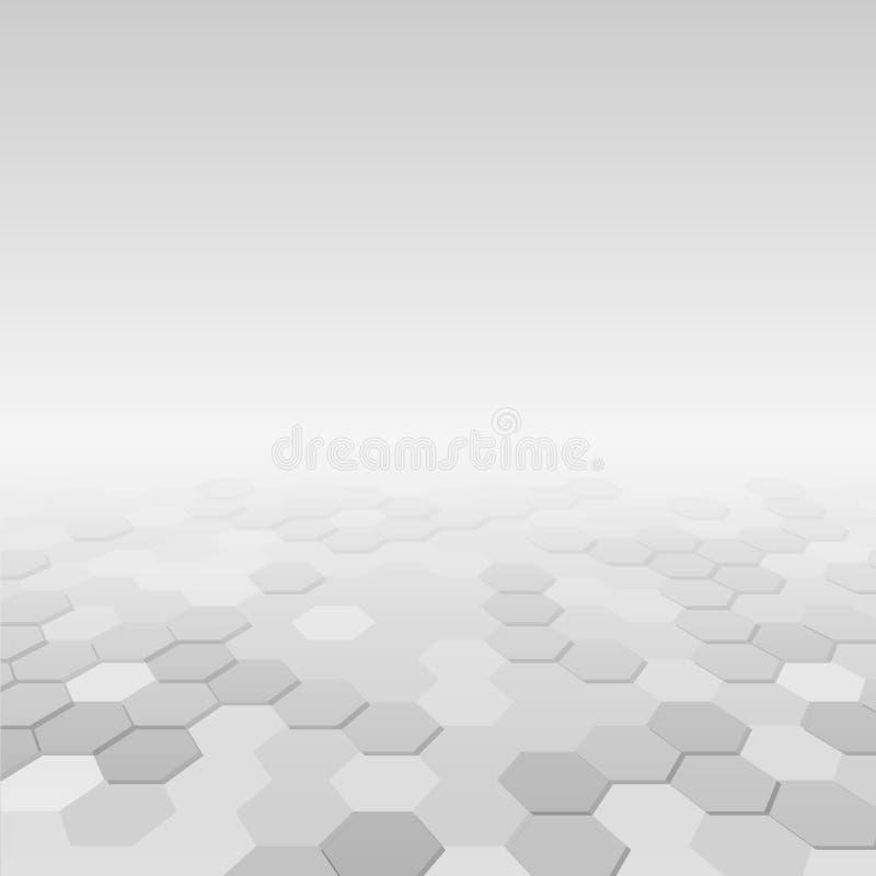 Αφηρημένο υπόβαθρο με τις hexagon άσπρες μορφές ελεύθερη απεικόνιση δικαιώματος