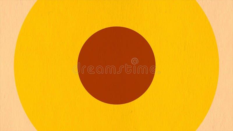 Αφηρημένο υπόβαθρο με τους αναδρομικούς κύκλους από τη ζωηρόχρωμη σύσταση εγγράφου Ένας ακτινωτός βρόχος που μπορεί να παιχτεί χω στοκ φωτογραφία με δικαίωμα ελεύθερης χρήσης
