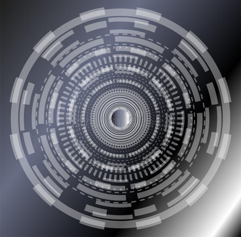 Αφηρημένο υπόβαθρο με τους γραπτούς κύκλους διανυσματική απεικόνιση