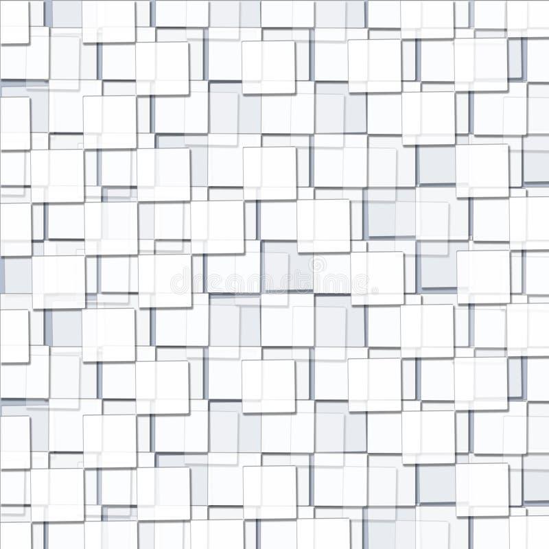 Αφηρημένο υπόβαθρο με τους κυβικούς άσπρους φραγμούς διανυσματική απεικόνιση