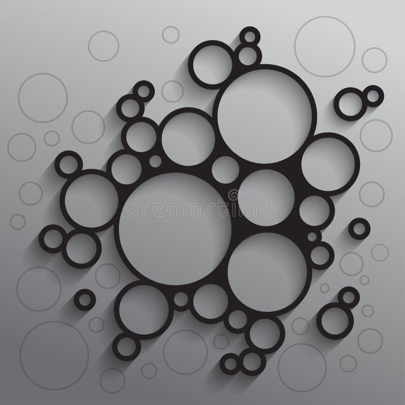 Αφηρημένο υπόβαθρο με τους μαύρους κύκλους ελεύθερη απεικόνιση δικαιώματος