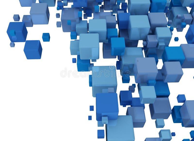 Αφηρημένο υπόβαθρο με τους μπλε κύβους απεικόνιση αποθεμάτων