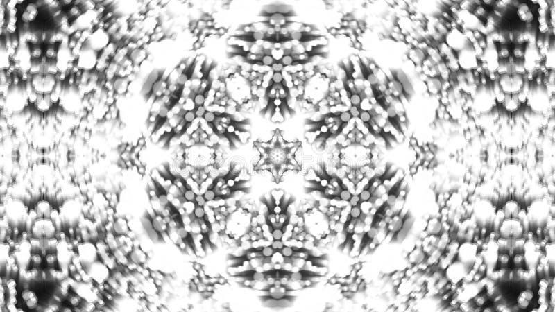 Αφηρημένο υπόβαθρο με το ασημένιο καλειδοσκόπιο στοκ φωτογραφία με δικαίωμα ελεύθερης χρήσης
