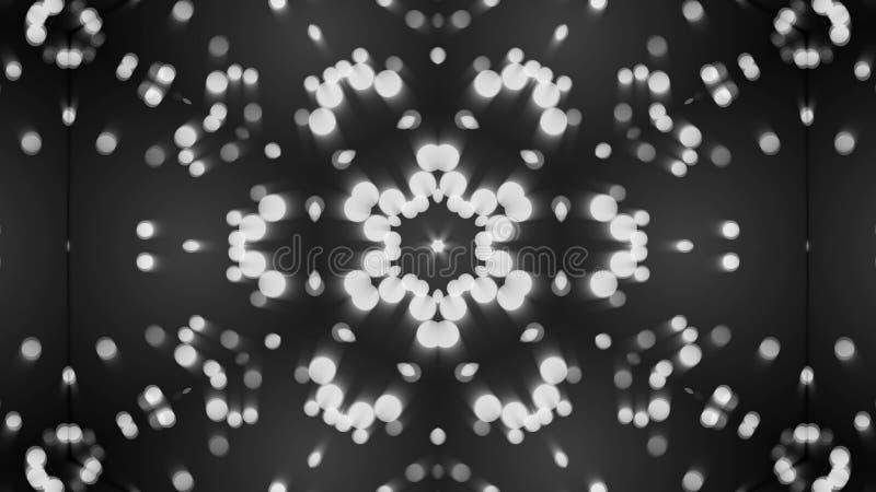 Αφηρημένο υπόβαθρο με το ασημένιο καλειδοσκόπιο στοκ εικόνα με δικαίωμα ελεύθερης χρήσης