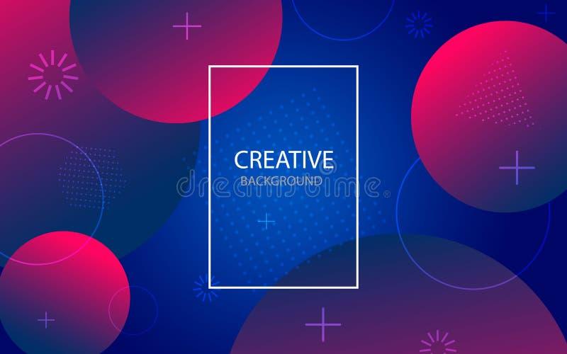Αφηρημένο υπόβαθρο με το γεωμετρικό κύκλο κλίσης Αφηρημένο σχέδιο σχεδίου με τους κύκλους χρώματος, σημεία r ελεύθερη απεικόνιση δικαιώματος