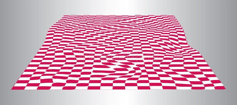 Αφηρημένο υπόβαθρο με το κόκκινο και άσπρο κεραμίδι απεικόνιση αποθεμάτων