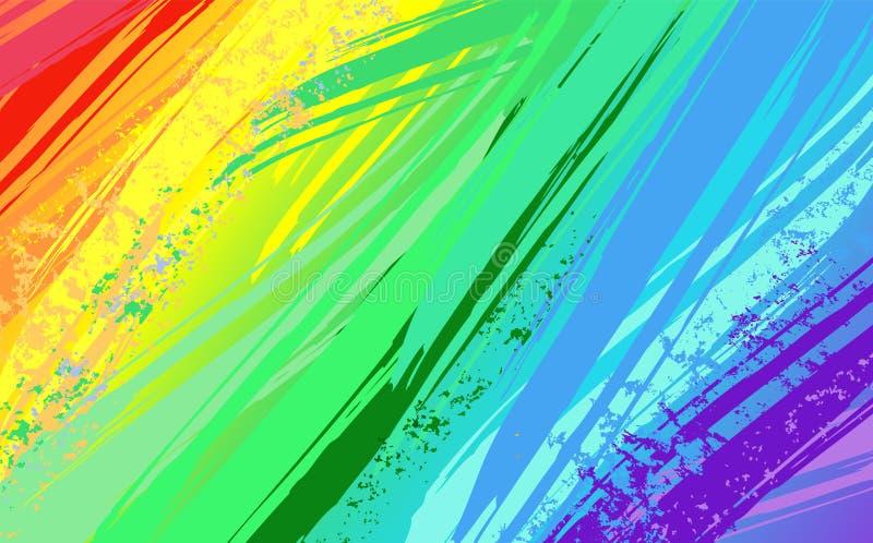 Αφηρημένο υπόβαθρο με το χρώμα ουράνιων τόξων απεικόνιση αποθεμάτων