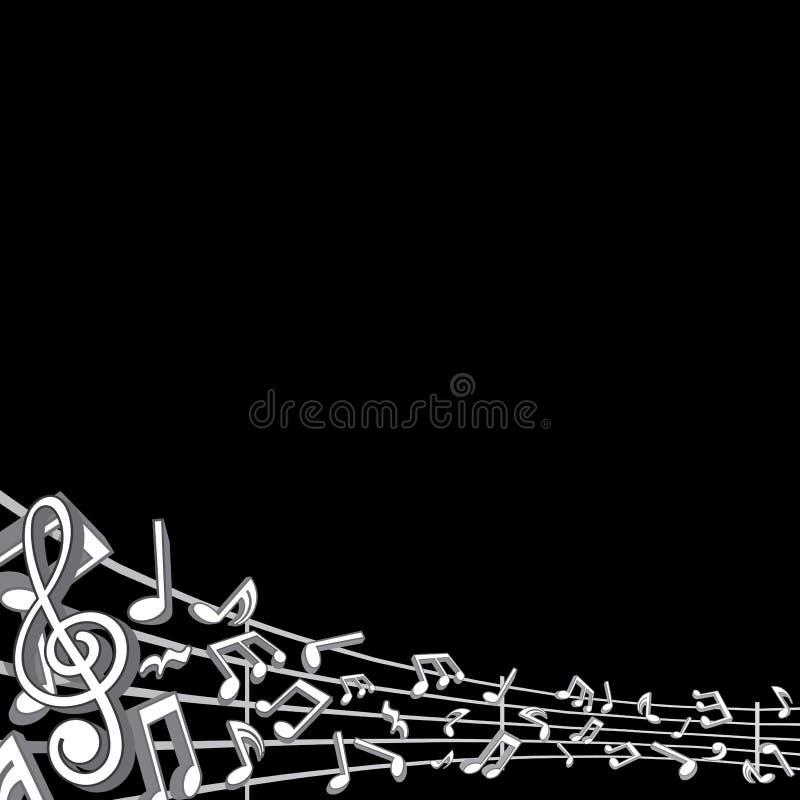 Αφηρημένο υπόβαθρο μουσικής με τις σημειώσεις διανυσματική απεικόνιση