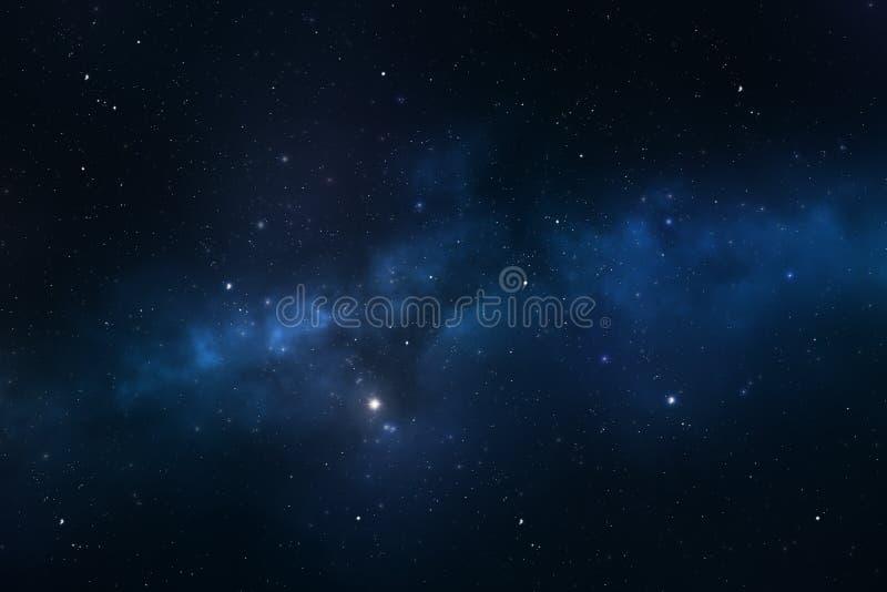 Έναστρο διαστημικό υπόβαθρο νυχτερινού ουρανού στοκ εικόνες