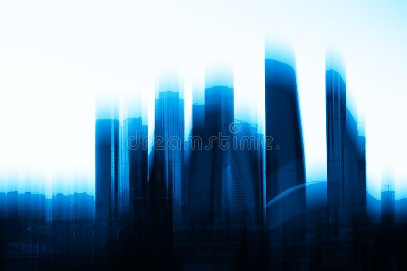 Αφηρημένο υπόβαθρο ουρανοξυστών πόλεων της Μόσχας στοκ φωτογραφία με δικαίωμα ελεύθερης χρήσης