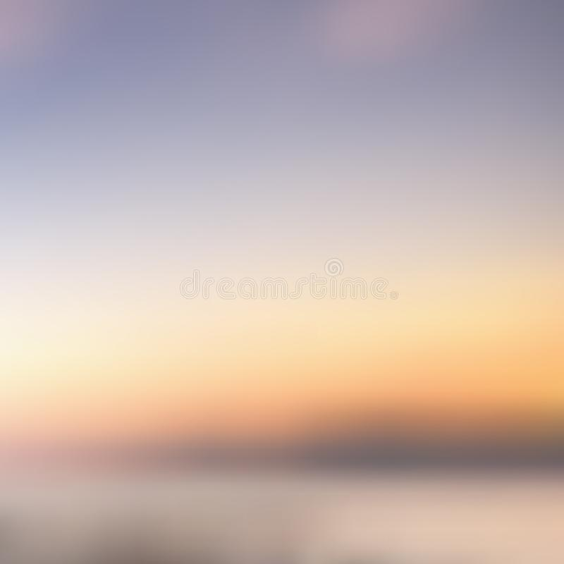 Αφηρημένο υπόβαθρο που θολώνεται αυγή ηλιοβασιλέματος για το σχέδιό σας ελεύθερη απεικόνιση δικαιώματος