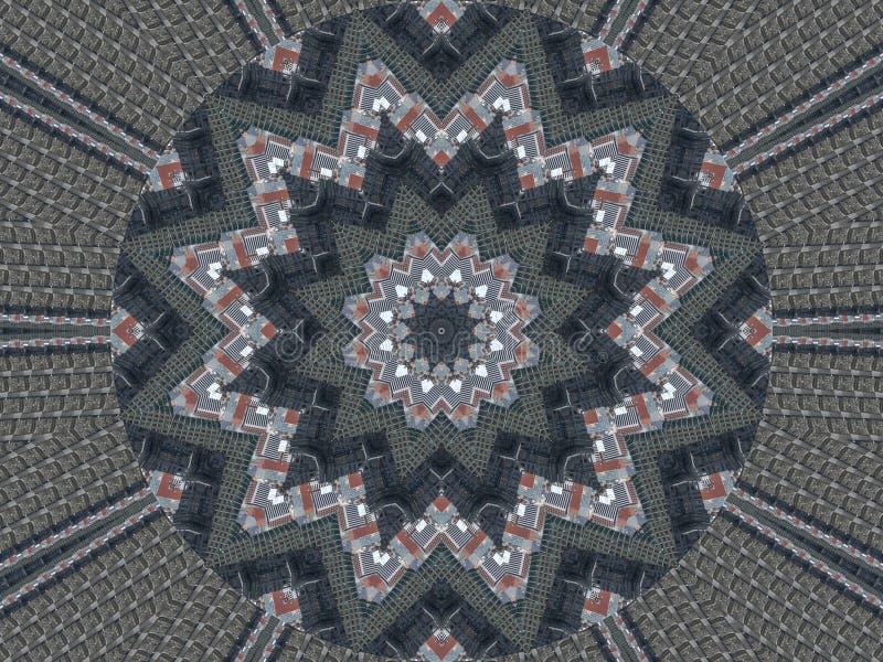 Αφηρημένο υπόβαθρο σχεδίων καλειδοσκόπιων κύκλος προτύπων Αρχιτεκτονικό αφηρημένο fractal υπόβαθρο καλειδοσκόπιων αφηρημένο fract στοκ εικόνες με δικαίωμα ελεύθερης χρήσης