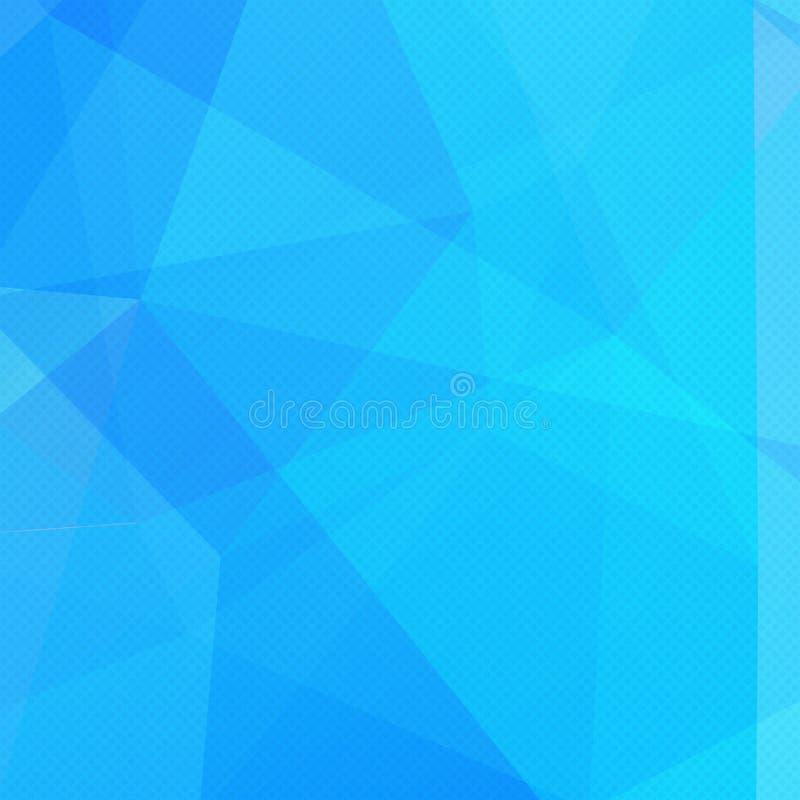 Αφηρημένο υπόβαθρο σχεδίων τριγώνων Μπλε μωσαϊκό, απεικόνιση απεικόνιση αποθεμάτων