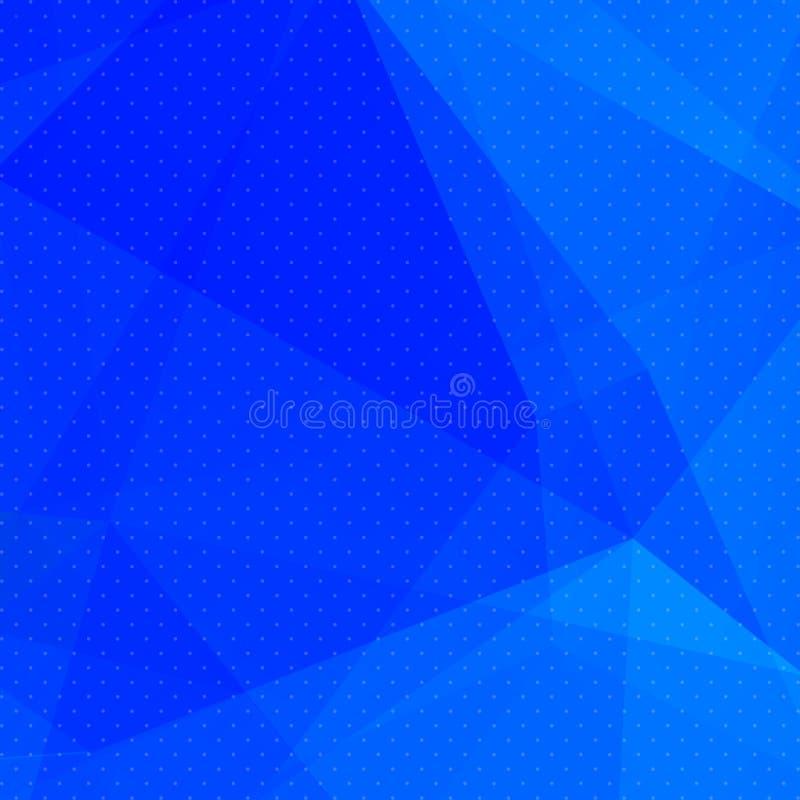 Αφηρημένο υπόβαθρο σχεδίων τριγώνων Μπλε μωσαϊκό, απεικόνιση ελεύθερη απεικόνιση δικαιώματος