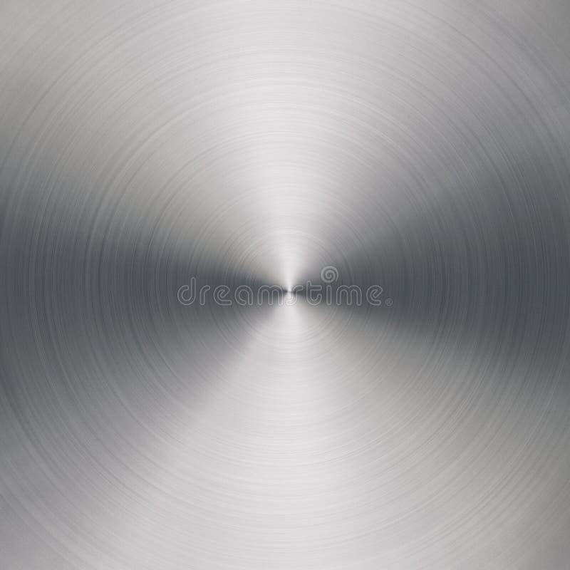 Ακτινωτή βουρτσισμένη σύσταση μετάλλων απεικόνιση αποθεμάτων