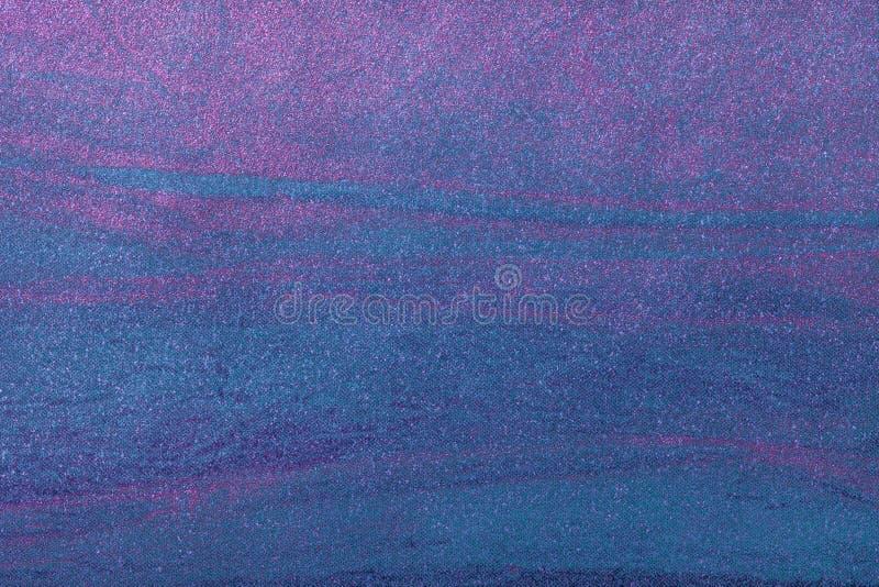 Αφηρημένο υπόβαθρο τέχνης μπλε ναυτικό με το πορφυρό χρώμα Πολύχρωμη ζωγραφική στον καμβά στοκ εικόνες