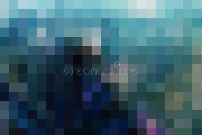 Αφηρημένο υπόβαθρο τέχνης στο ύφος μωσαϊκών, κρύα παλέτα τόνου στοκ εικόνες