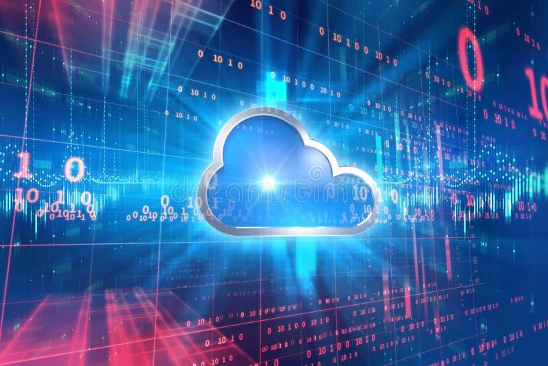 Αφηρημένο υπόβαθρο τεχνολογίας συστημάτων υπολογισμού σύννεφων ελεύθερη απεικόνιση δικαιώματος