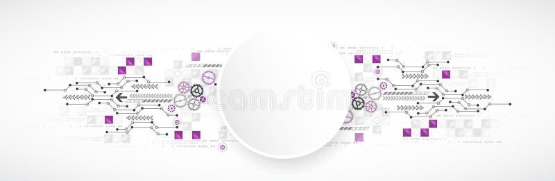 Αφηρημένο υπόβαθρο τεχνολογίας υπολογιστών για την επιχείρησή σας διανυσματική απεικόνιση