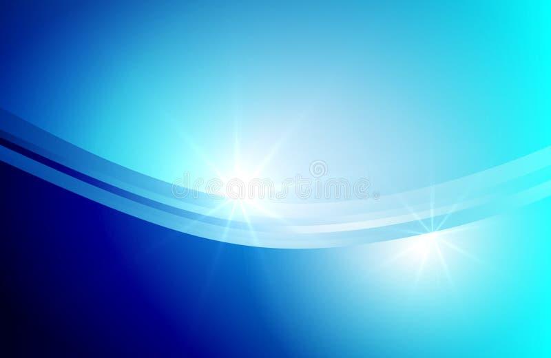 Αφηρημένο υπόβαθρο της μπλε να λάμψει πέπλων επίδρασης απεικόνιση αποθεμάτων