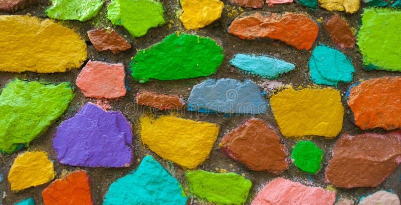 Αφηρημένο υπόβαθρο τοίχων Grunge πολύχρωμο πέτρινο στοκ φωτογραφία με δικαίωμα ελεύθερης χρήσης