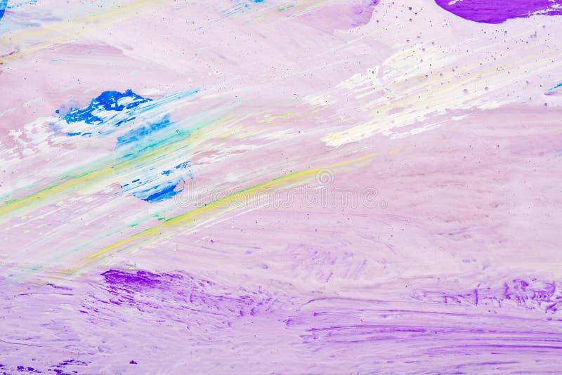 Αφηρημένο υπόβαθρο του διαφορετικού χρώματος χρωμάτων που λερώνεται στην επιφάνεια του καμβά στοκ φωτογραφία με δικαίωμα ελεύθερης χρήσης