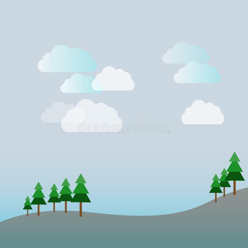 αφηρημένο υπόβαθρο του τοπίου διανυσματική απεικόνιση