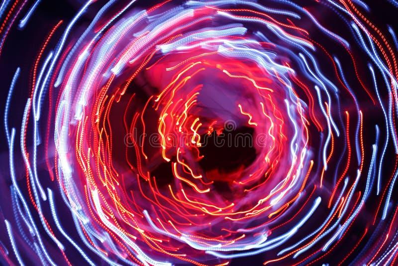 Αφηρημένο υπόβαθρο των ελαφριών ιχνών στοκ φωτογραφία με δικαίωμα ελεύθερης χρήσης
