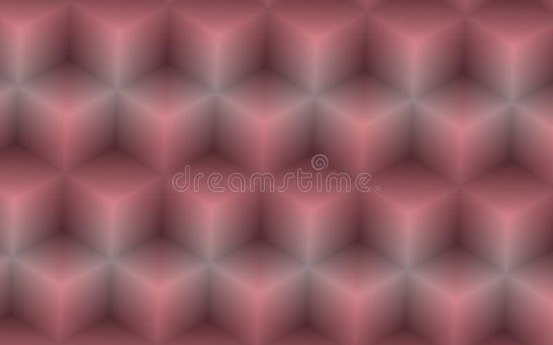 Αφηρημένο υπόβαθρο των τρισδιάστατων κύβων στα ρόδινα και γκρίζα χρώματα διανυσματική απεικόνιση