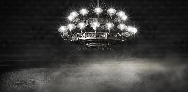 Αφηρημένο, αφηρημένο υπόβαθρο υποβάθρου, καπνός, αιθαλομίχλη Σκοτεινό δωμάτιο άποψης νύχτας, δωμάτιο, διάδρομος με πολύ φως στοκ εικόνες με δικαίωμα ελεύθερης χρήσης