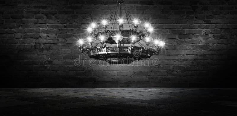 Αφηρημένο, αφηρημένο υπόβαθρο υποβάθρου, καπνός, αιθαλομίχλη Σκοτεινό δωμάτιο άποψης νύχτας, δωμάτιο, διάδρομος με πολύ φως στοκ εικόνα με δικαίωμα ελεύθερης χρήσης