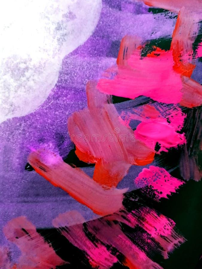 Αφηρημένο υπόβαθρο, χρωματισμένες χέρι συστάσεις, γκουας, watercolor, παφλασμοί, πτώσεις του χρώματος, κτυπήματα χρωμάτων Σχέδιο  στοκ εικόνα με δικαίωμα ελεύθερης χρήσης