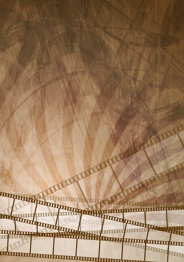 Αφηρημένο υπόβαθρο filmstrip Grunge καφετί ελεύθερη απεικόνιση δικαιώματος