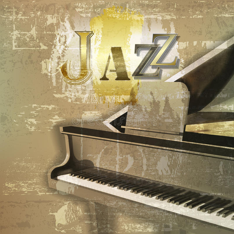 Αφηρημένο υπόβαθρο grunge με το μεγάλο πιάνο απεικόνιση αποθεμάτων