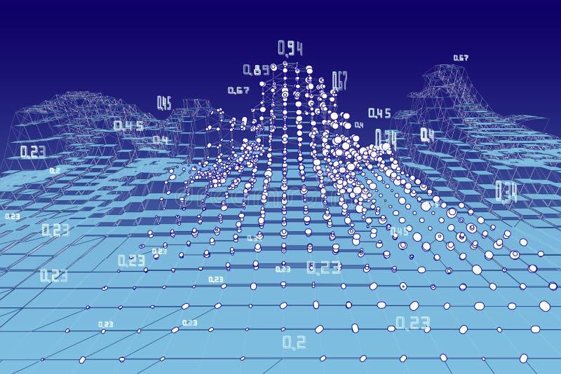 Αφηρημένο υπόβαθρο infographics ανάλυσης Χωροχρονικά στοιχεία μεταλλείας r r απεικόνιση αποθεμάτων