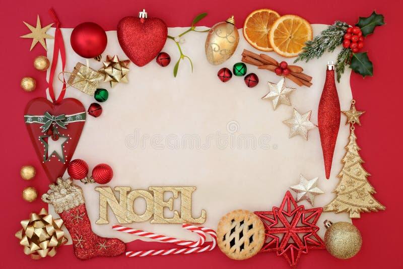 Αφηρημένο υπόβαθρο Noel στοκ εικόνες με δικαίωμα ελεύθερης χρήσης
