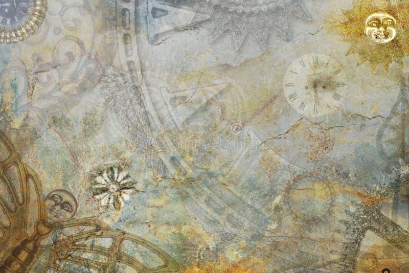 Αφηρημένο υπόβαθρο Steampunk στοκ εικόνα με δικαίωμα ελεύθερης χρήσης